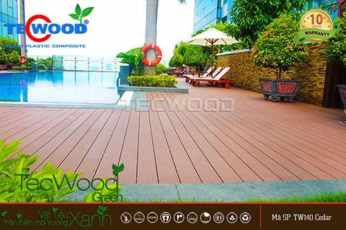 lót sàn gỗ ngoài trời tại vincom