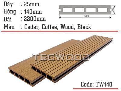 sàn gỗ lỗ vuông tw140 cedar
