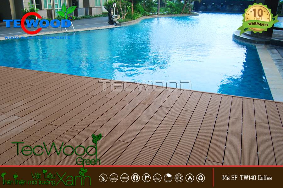 sàn gỗ nhựa nhà tắm, hồ bơi