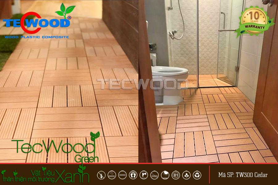 gỗ nhựa lót sàn nhà tắm