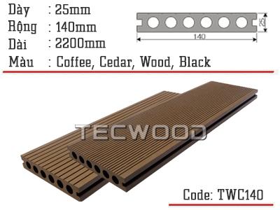 sàn gỗ lỗ tròn twc140