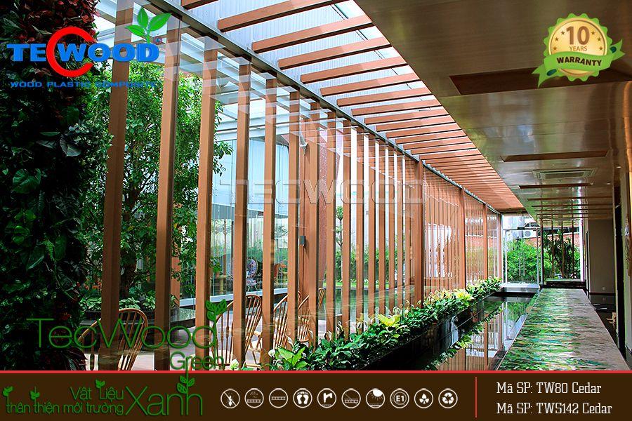 lam gỗ che nắng tại dự án An Gia