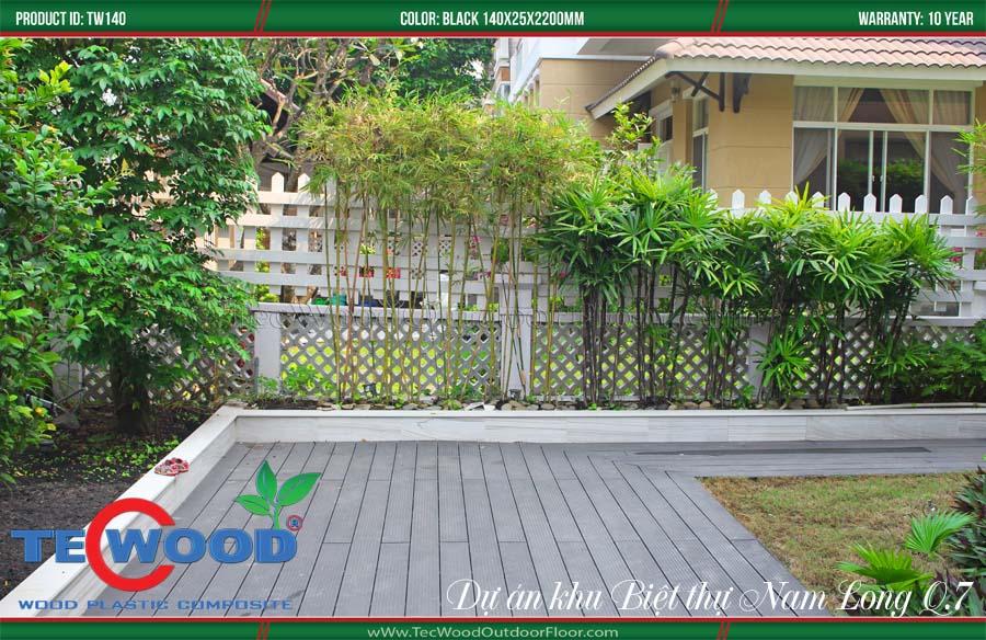 Sàn gỗ lót sàn sân vườn 1