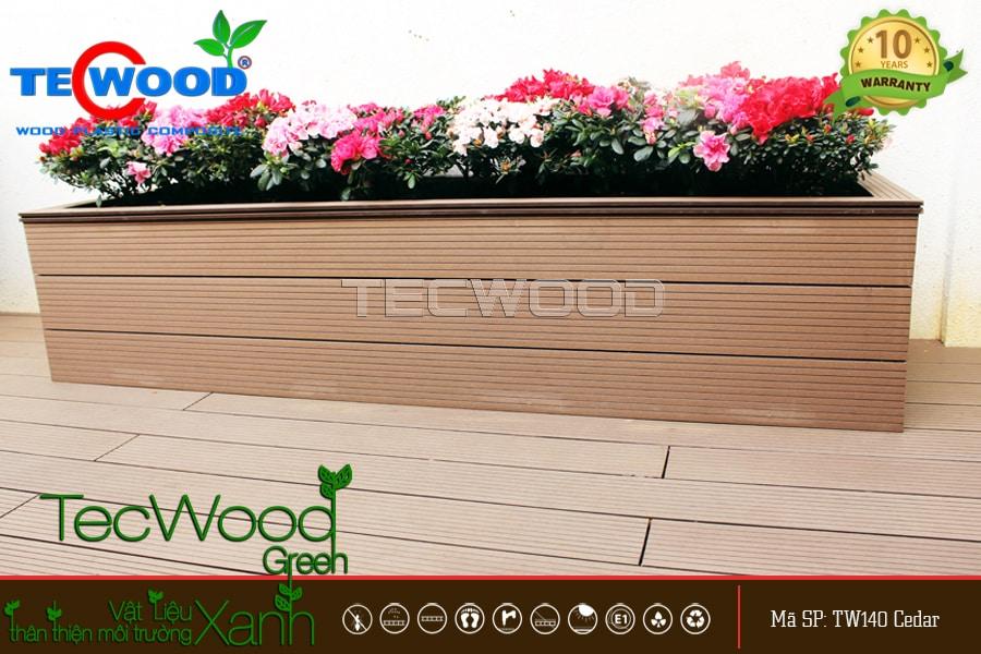 chậu hoa gỗ nhựa ngoài trời TecWood