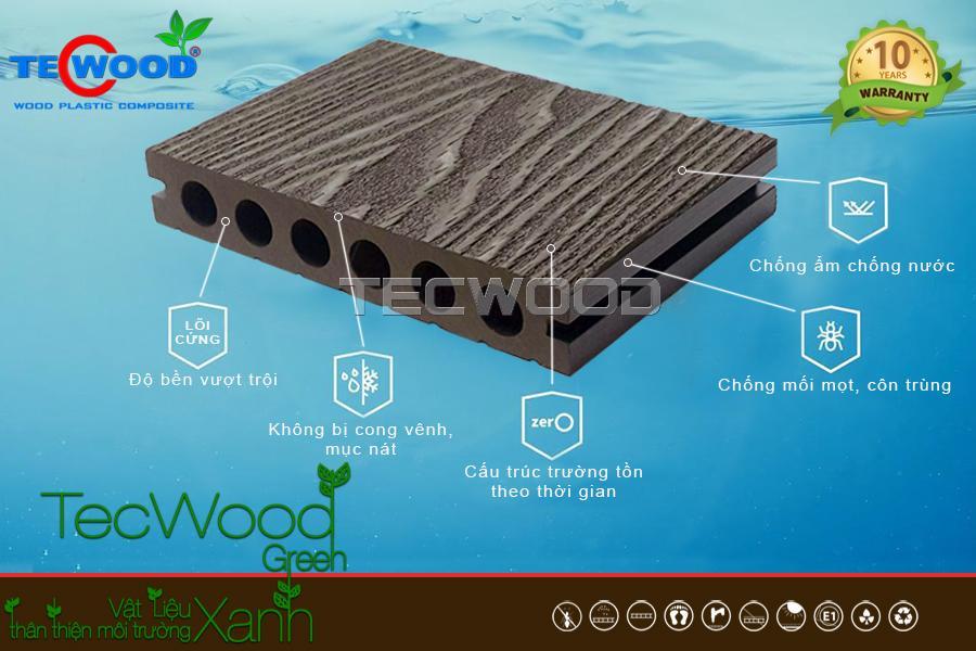 Đặc tính sàn gỗ ngoài trời TecWood
