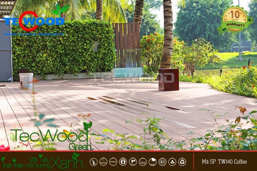 Không gian sàn gỗ ven sông dự án Villa Ecopark Hưng Yên  cao cấp
