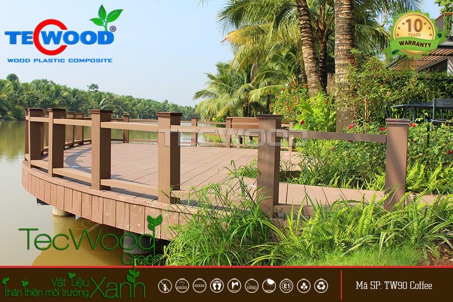 Hàng rào gỗ nhựa TecWood cho dự án ven sông