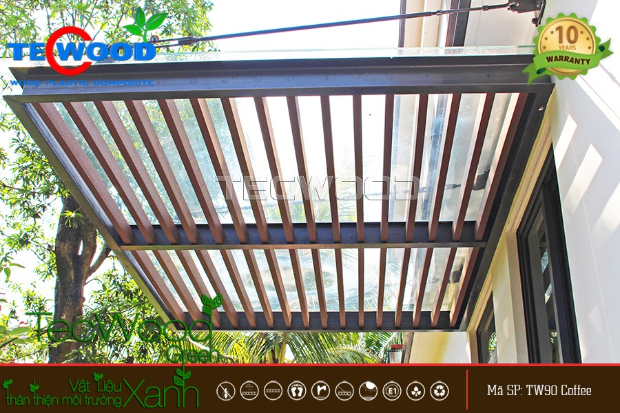 Lam che nắng mái hiên nhà mẫu Ecopark Grand Hưng Yên