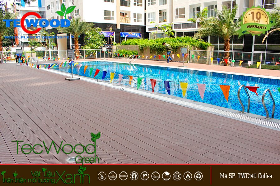 sàn gỗ hồ bơi tecwood