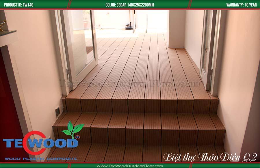 Cầu thang gỗ nhựa 2