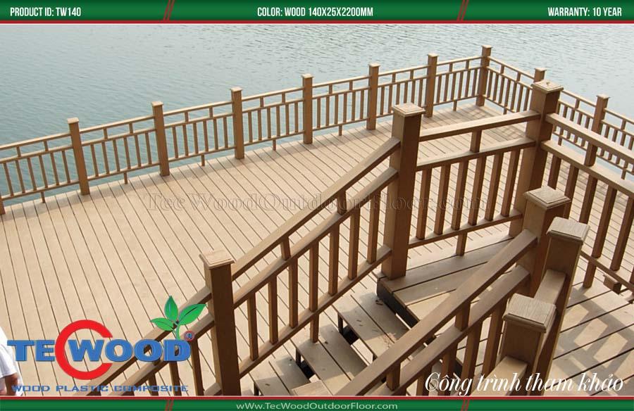 Cầu thang gỗ nhựa 3