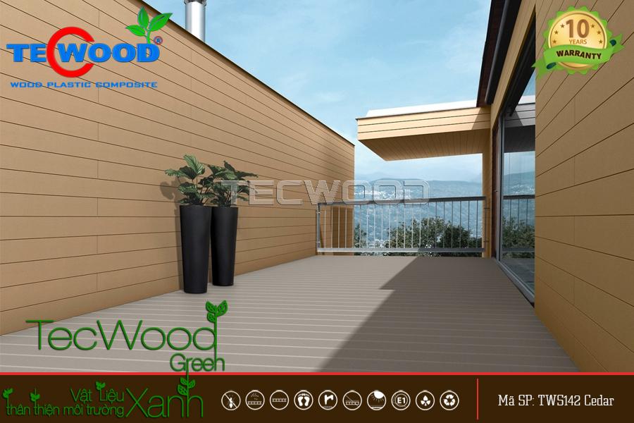 gỗ nhựa ốp tường