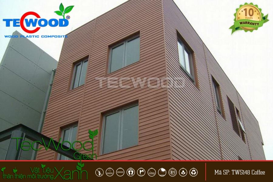 gỗ nhựa ốp tường ngoài trời TecWood
