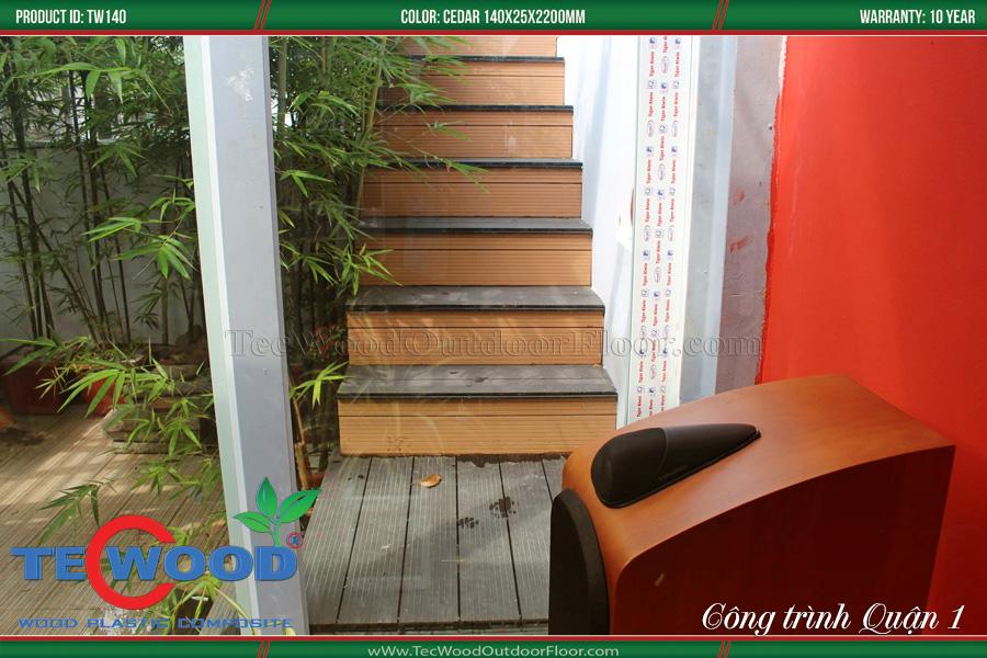 Gỗ nhựa ốp cầu thang 2