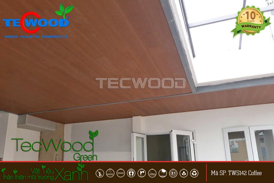 gỗ ốp trần ngoài trời