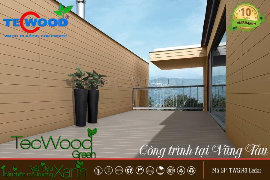 gỗ ốp tường sân thượng