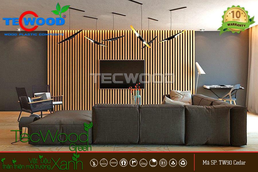 ốp tường gỗ nhựa trong nhà