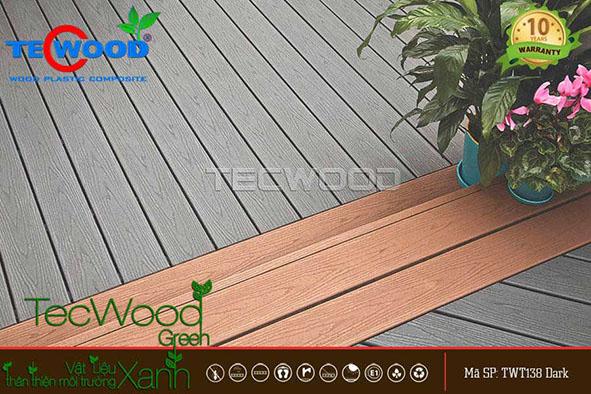 sàn gỗ nhựa lót sân thượng