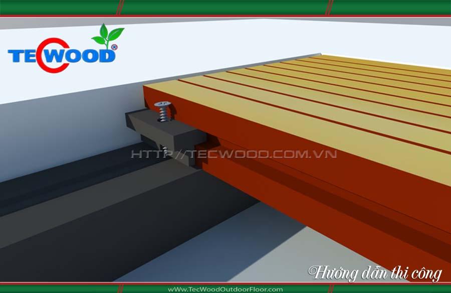 lắp đặt thi công sàn gỗ ngoài trời