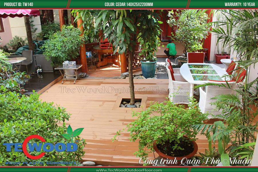 Sàn gỗ lót sân vườn đẹp 2