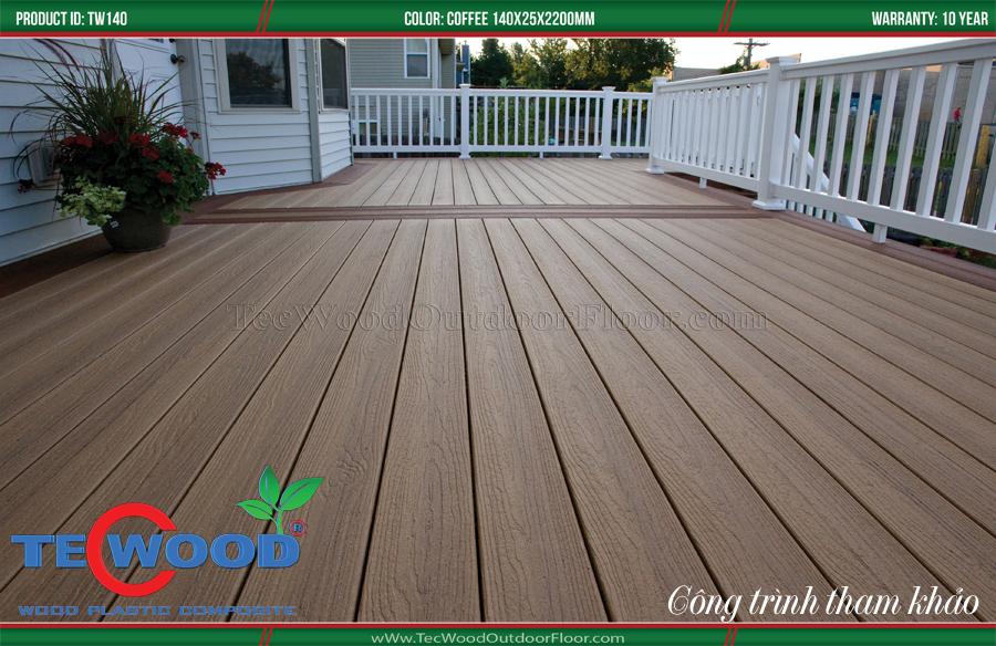 sàn gỗ ngoài trời thi công sân vườn