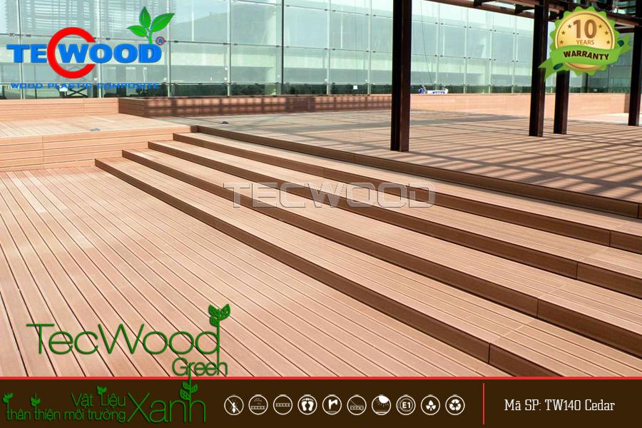 Không gian trang trí bằng gỗ nhựa ngoài trời TecWood