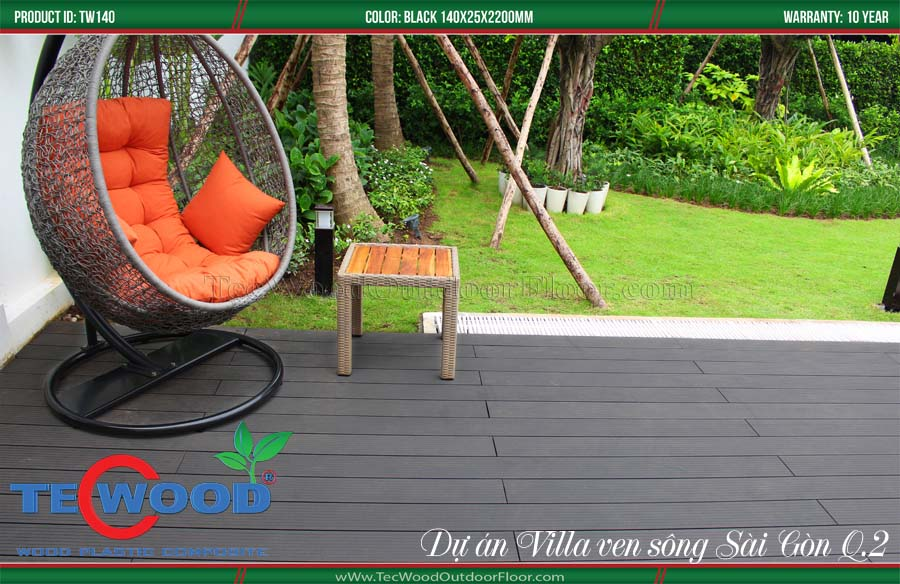 Sàn gỗ lót sân vườn đẹp