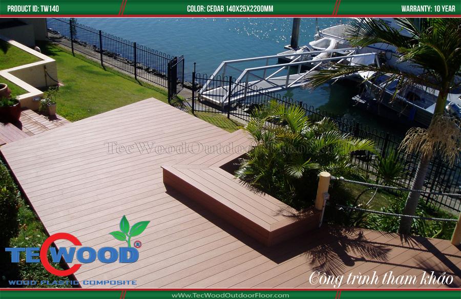 Sàn gỗ cầu cảng đẹp trang trí khu dân cư