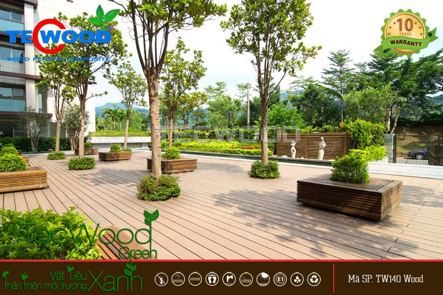 sàn gỗ công viên