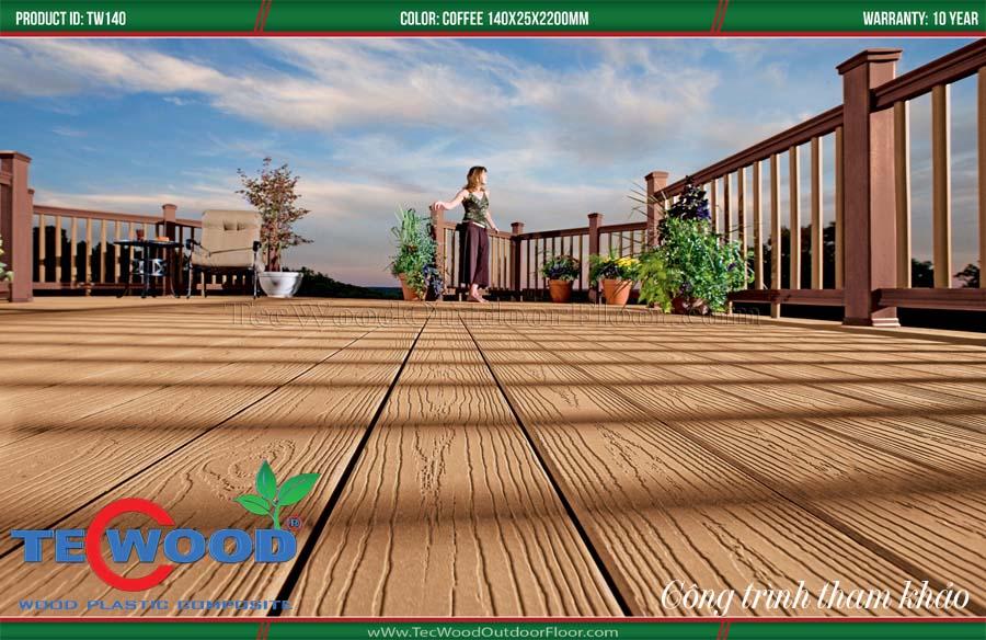 Sàn gỗ ngoài trời sân thượng 1