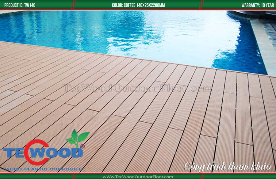 Sàn gỗ ngoài trời lót hồ bơi 2