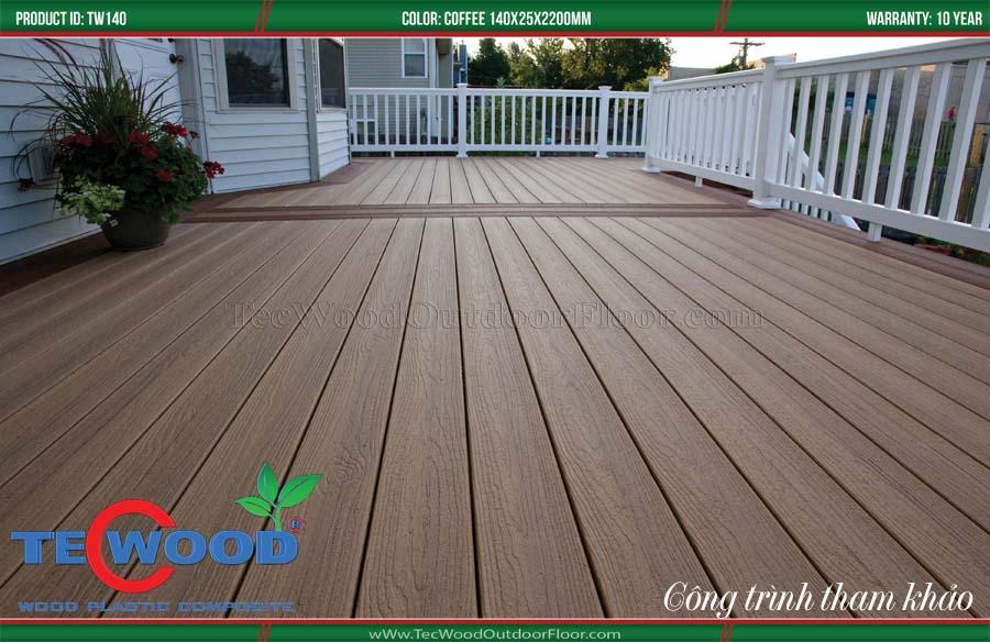 Sàn gỗ nhựa lót sân thượng 1