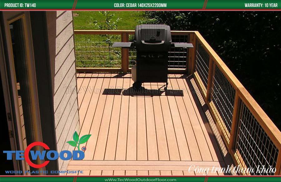 Sàn gỗ nhựa lót sân thượng 2