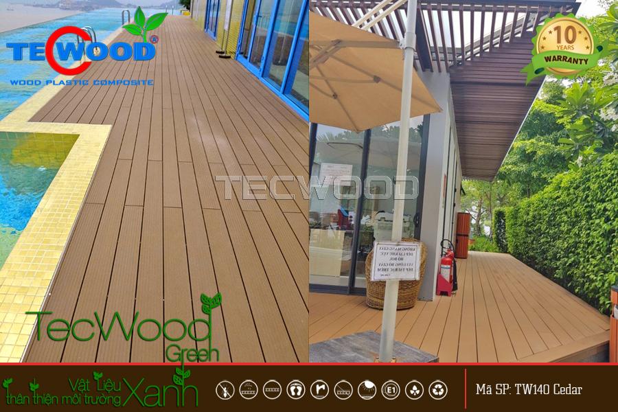 Sàn gỗ sân thượng cho khu nghỉ dưỡng cao cấp