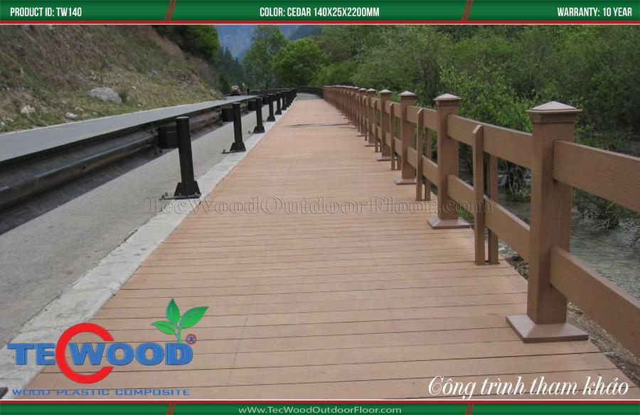 Ván gỗ nhựa lát cầu cảng