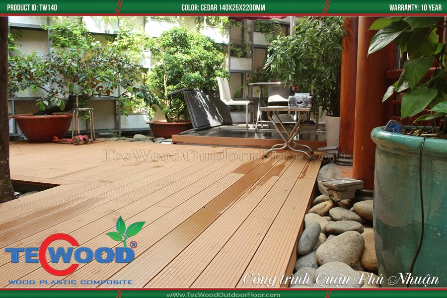 Sàn nhựa giả gỗ lót sàn nhà phố 3