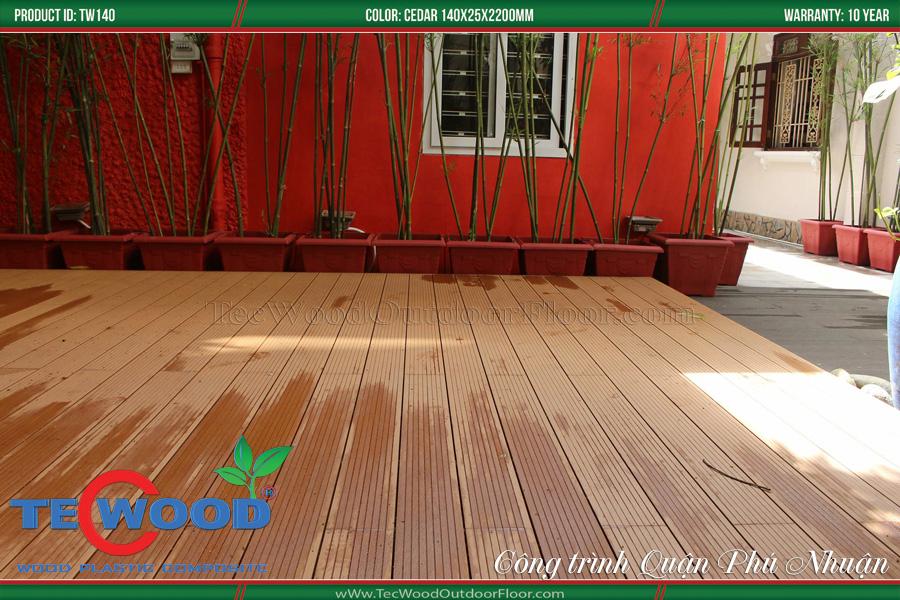 Sàn nhựa giả gỗ lót sàn nhà phố 4