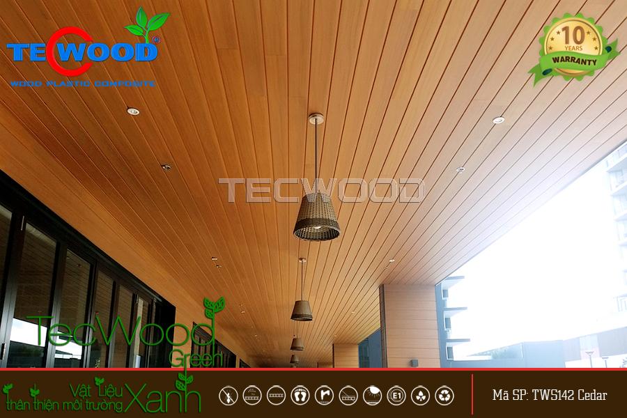 Gỗ nhựa TecWood chuyên dùng ốp tường dự án ngoài trời