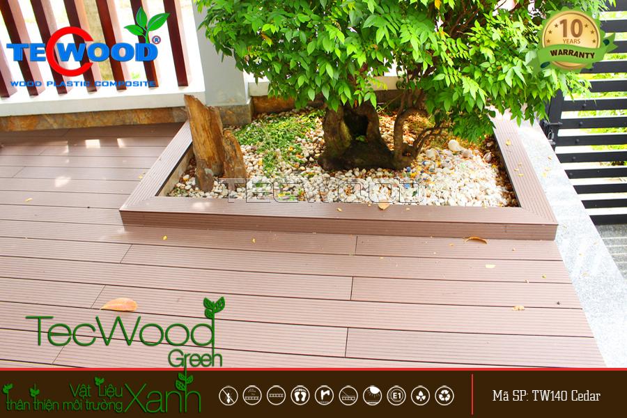 Sàn gỗ nhựa TecWood lót sân vườn nhà phố 2