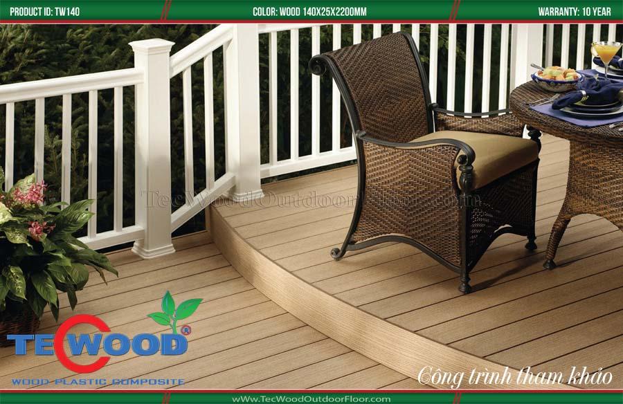 Ý tưởng làm hàng rào gỗ nhựa 2