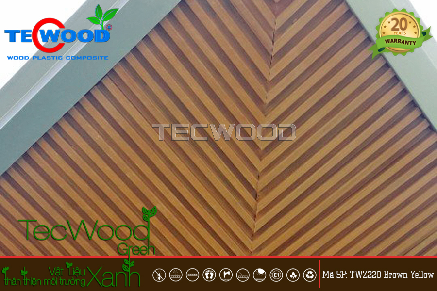 Tấm ốp TecWood TWZ220-Brown Yellow