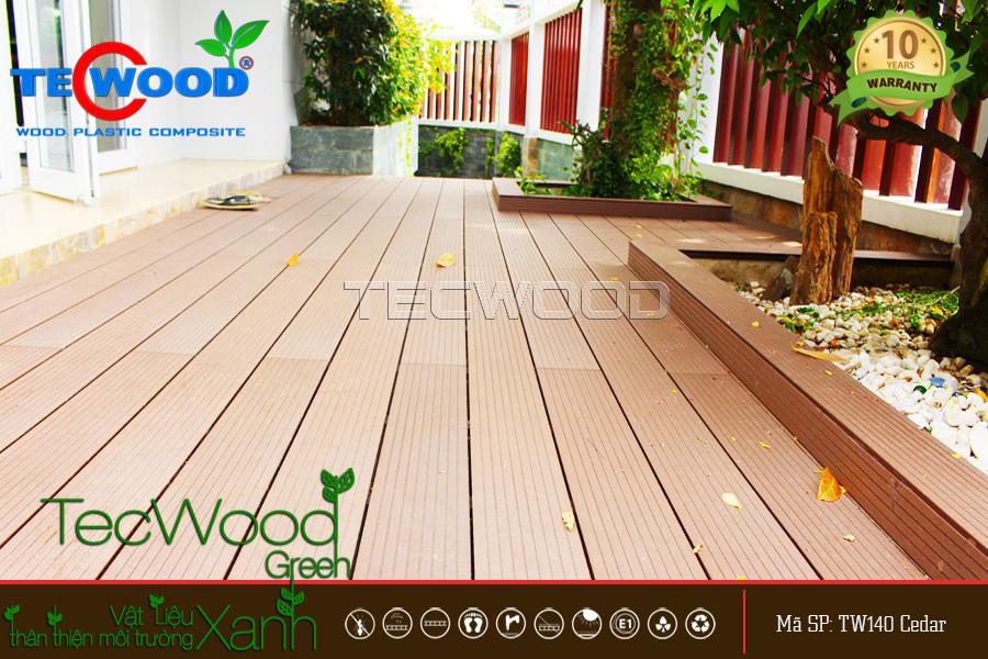 gỗ nhựa tecwood ốp sàn ngoài trời