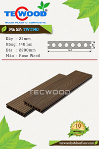 Sàn gỗ TecWood TWT140-Rose Wood