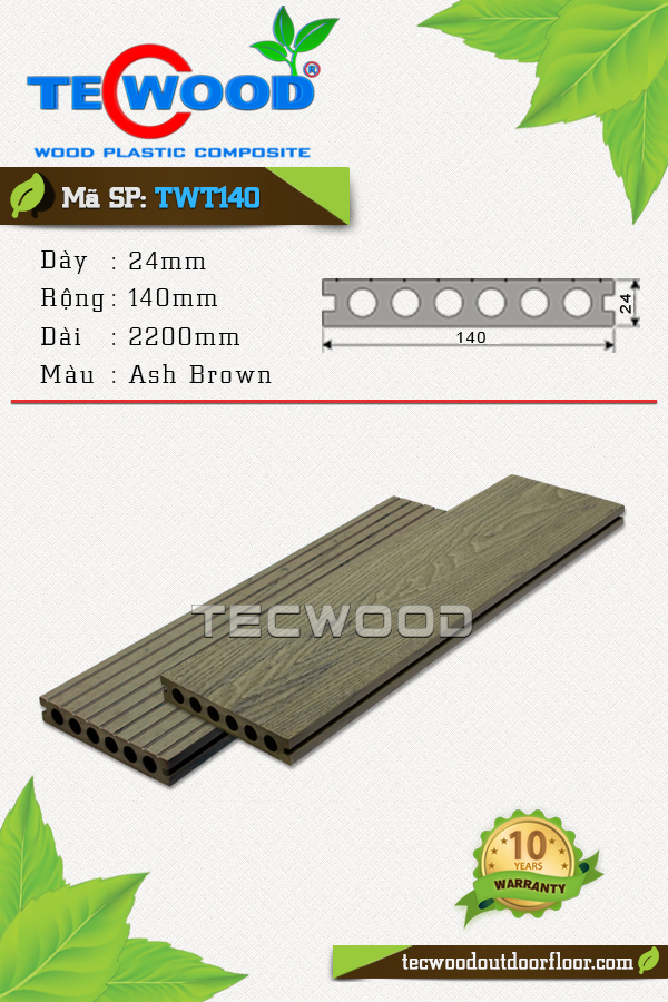TecWood TWT140-Ash Brown
