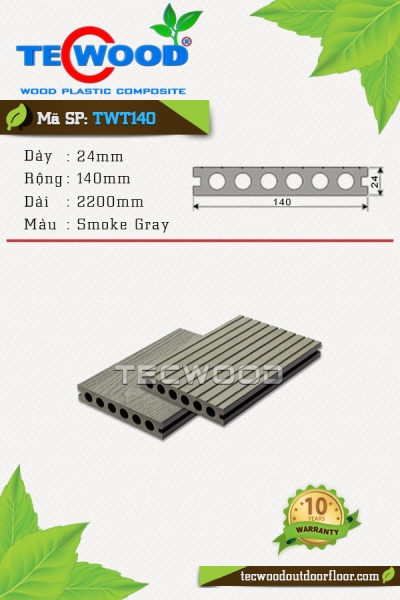 TecWood TWT140-Smoke Gray
