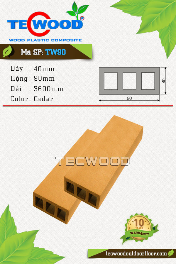 thanh lam gỗ nhựa