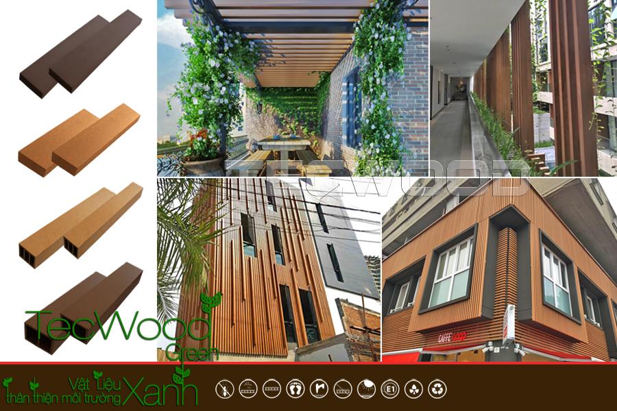 Thanh lam gỗ nhựa là vật liệu trang trí ngoại thất được yêu thích hàng đầu hiện nay.